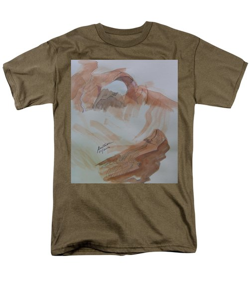 Men's T-Shirt  (Regular Fit) featuring the painting Arch Rock - Sketchbook Doodle by Joel Deutsch