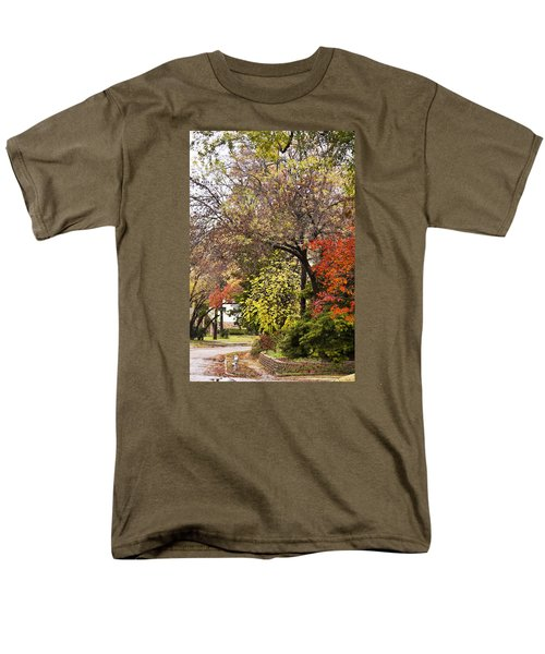 Men's T-Shirt  (Regular Fit) featuring the photograph Around The Corner by Joan Bertucci