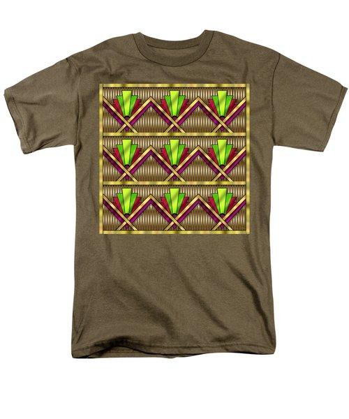 Men's T-Shirt  (Regular Fit) featuring the digital art Art Deco Multiview 18  by Chuck Staley