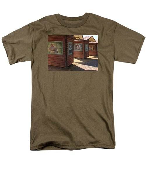 Men's T-Shirt  (Regular Fit) featuring the photograph Art Shacks Old Town by Cheryl Del Toro