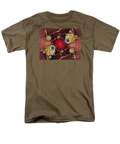 Men's T-Shirt  (Regular Fit) featuring the digital art Artdeco by Karin Kuhlmann