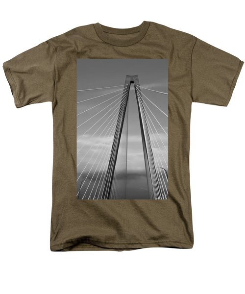 Arthur Ravenel Jr Bridge II Men's T-Shirt  (Regular Fit) by DigiArt Diaries by Vicky B Fuller