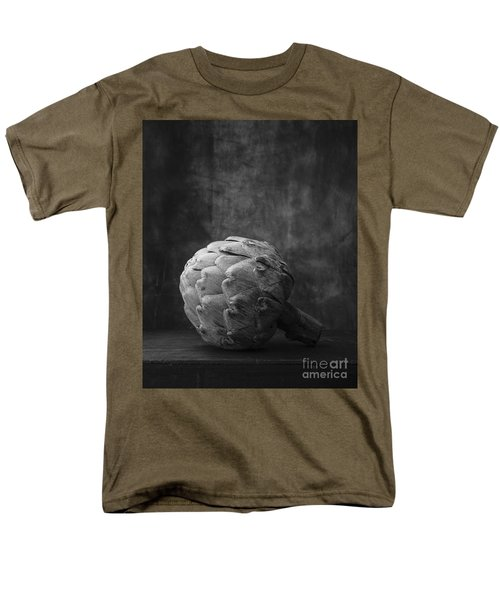 Artichoke Black And White Still Life Men's T-Shirt  (Regular Fit) by Edward Fielding