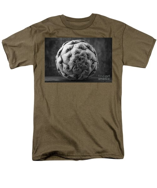 Artichoke Black And White Still Life Two Men's T-Shirt  (Regular Fit) by Edward Fielding