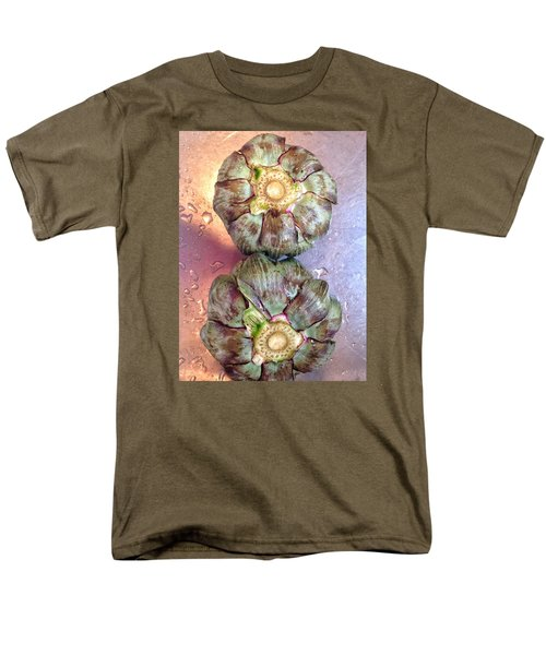 Men's T-Shirt  (Regular Fit) featuring the photograph Artichokes In The Sink by Olivier Calas