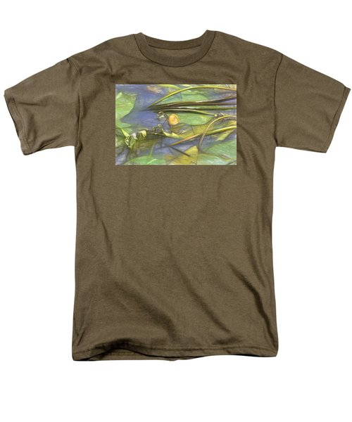 Men's T-Shirt  (Regular Fit) featuring the photograph Artistic Yellow Waterlilly 2015 by Leif Sohlman