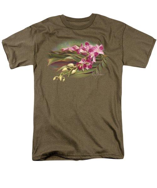 Dendrobium Orchids Men's T-Shirt  (Regular Fit) by Lucie Bilodeau