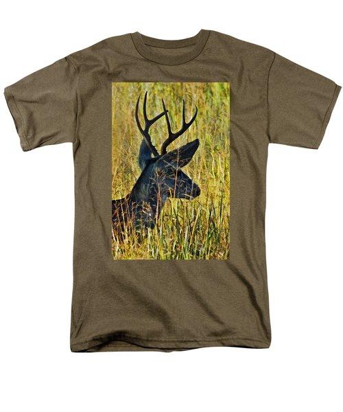 The Buck Rests Here Men's T-Shirt  (Regular Fit) by Bill Kesler