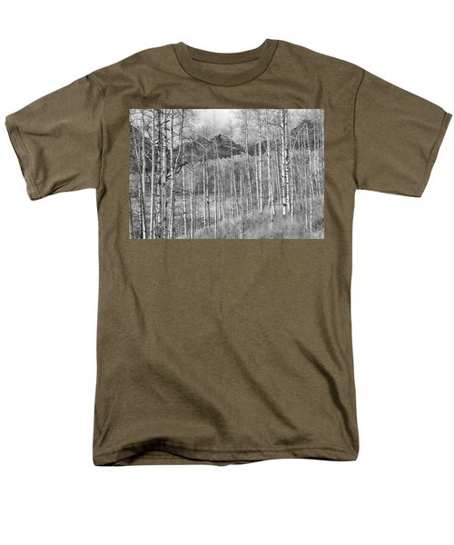 Men's T-Shirt  (Regular Fit) featuring the photograph Aspen Ambience Monochrome by Eric Glaser