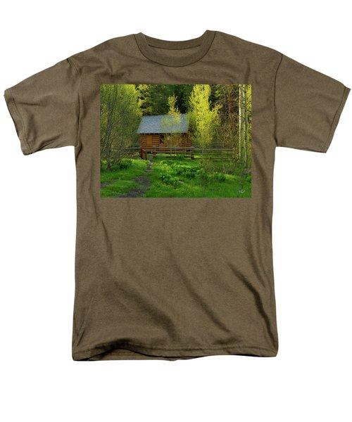 Men's T-Shirt  (Regular Fit) featuring the photograph Aspen Cabin by Leland D Howard