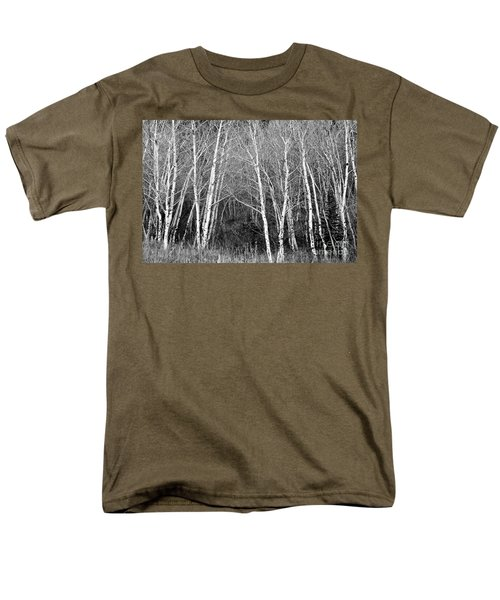 Aspen Forest Black And White Print Men's T-Shirt  (Regular Fit) by James BO  Insogna
