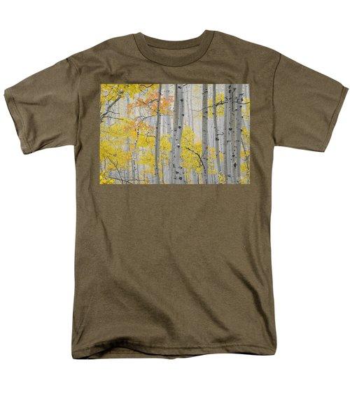 Aspen Forest Texture Men's T-Shirt  (Regular Fit) by Leland D Howard