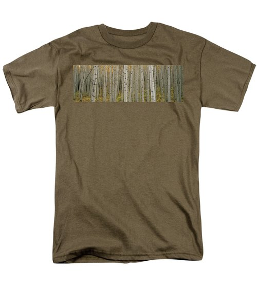 Aspen Grove In Fall, Kebler Pass Men's T-Shirt  (Regular Fit) by Ron Watts
