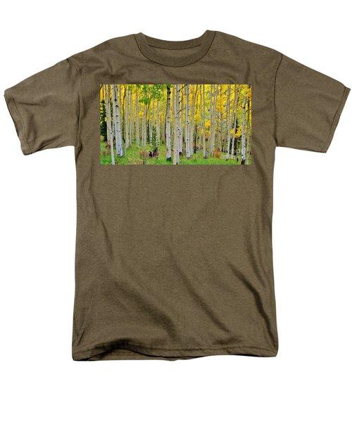 Aspen Slope Men's T-Shirt  (Regular Fit) by Ellen Heaverlo