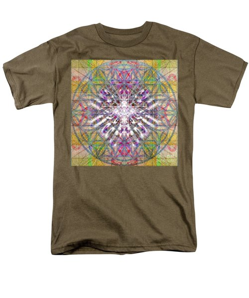 Men's T-Shirt  (Regular Fit) featuring the digital art Assent From The Womb In The Flower Tree Of Life by Christopher Pringer