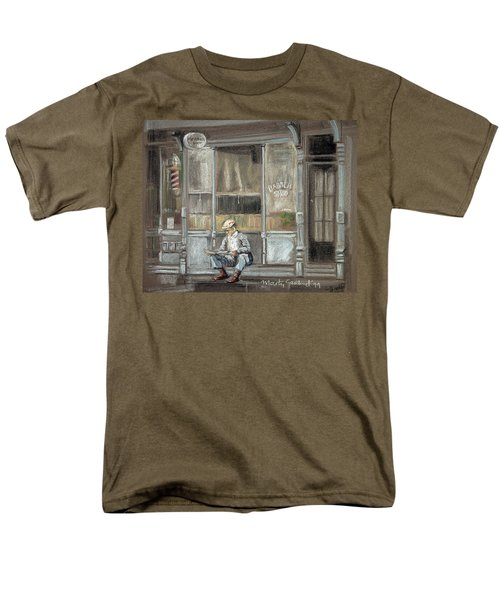 At The Barber Shop Men's T-Shirt  (Regular Fit) by Marty Garland