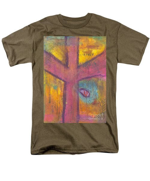 Men's T-Shirt  (Regular Fit) featuring the mixed media At The Cross by Angela L Walker