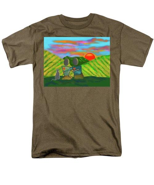 At The Vineyard Men's T-Shirt  (Regular Fit) by Haleh Mahbod