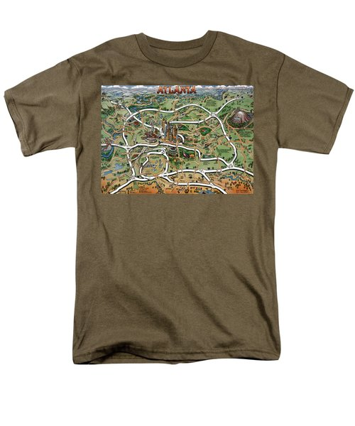 Atlanta Cartoon Map Men's T-Shirt  (Regular Fit) by Kevin Middleton