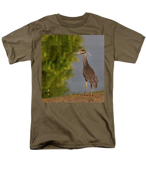 Attentive Heron Men's T-Shirt  (Regular Fit) by Jean Noren