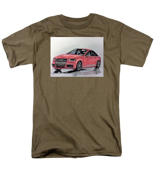Men's T-Shirt  (Regular Fit) featuring the mixed media Audi S4 by Kevin F Heuman