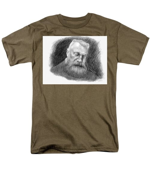 Men's T-Shirt  (Regular Fit) featuring the drawing Auguste Rodin by Antonio Romero