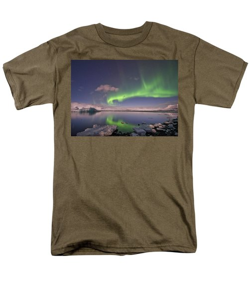 Aurora Borealis And Reflection #2 Men's T-Shirt  (Regular Fit) by Wanda Krack