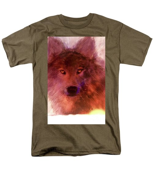 Men's T-Shirt  (Regular Fit) featuring the painting Aurora Rising by FeatherStone Studio Julie A Miller