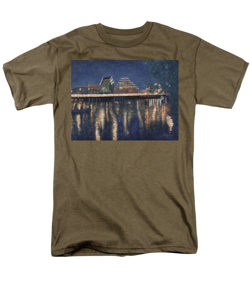 Men's T-Shirt  (Regular Fit) featuring the painting Austin At Night by Felipe Adan Lerma