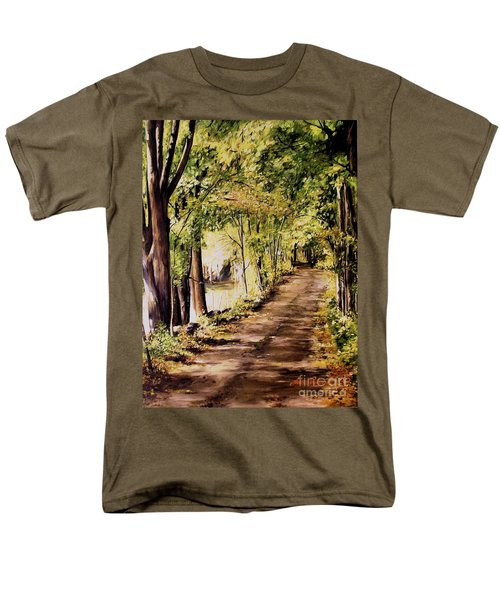 Autumn Begins In Underhill Men's T-Shirt  (Regular Fit) by Laurie Rohner