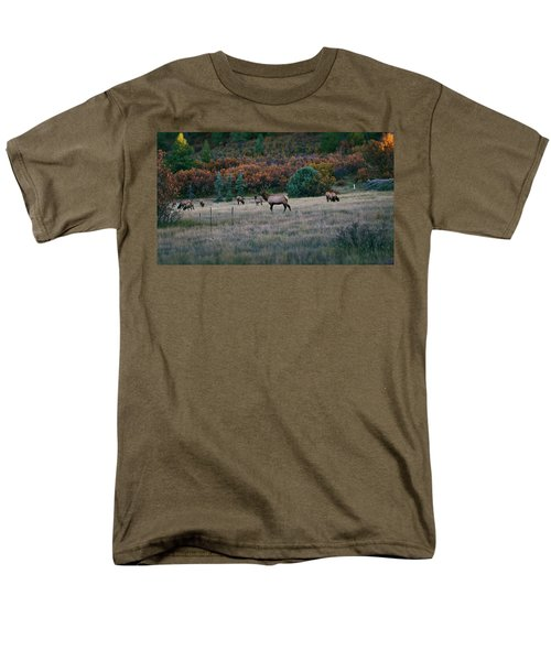 Autumn Bull Elk Men's T-Shirt  (Regular Fit) by Jason Coward
