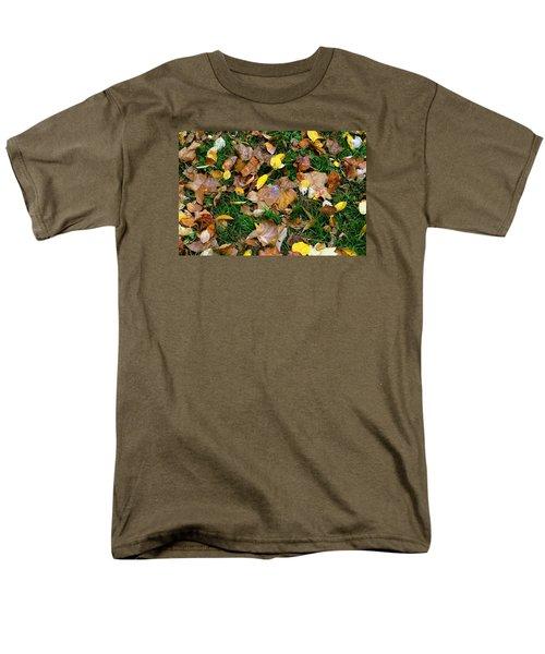 Men's T-Shirt  (Regular Fit) featuring the photograph Autumn Carpet 002 by Dorin Adrian Berbier