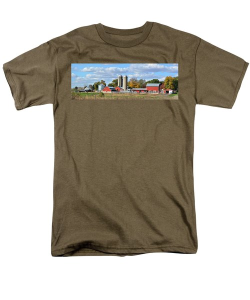 Autumn Elk Farm Men's T-Shirt  (Regular Fit) by Bonfire Photography