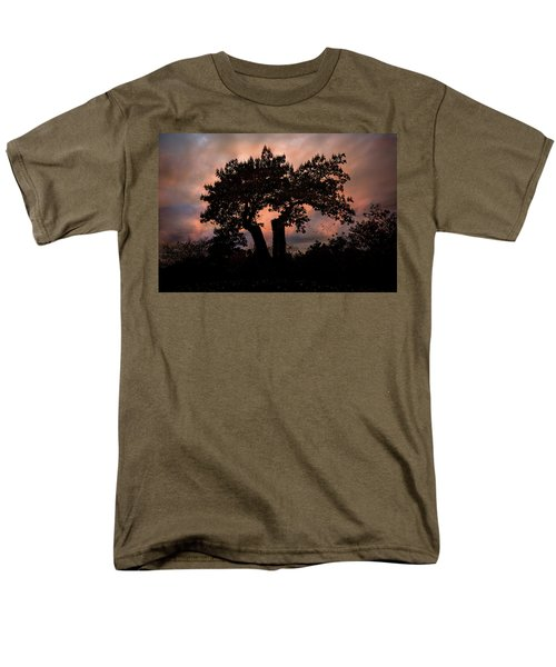 Men's T-Shirt  (Regular Fit) featuring the photograph Autumn Evening Sunset Silhouette by Chris Lord