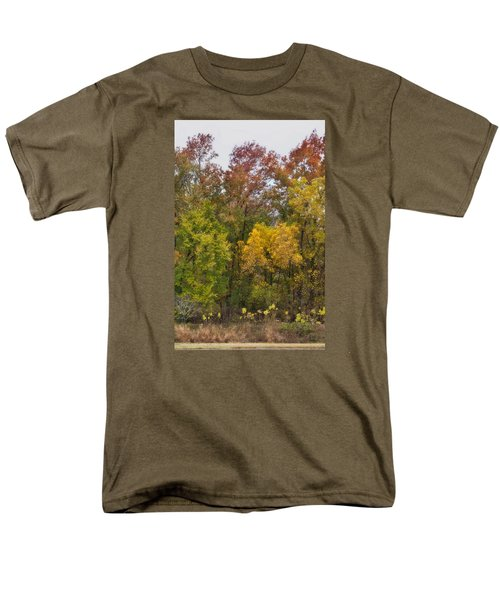 Men's T-Shirt  (Regular Fit) featuring the photograph Autumn Explosion by Joan Bertucci