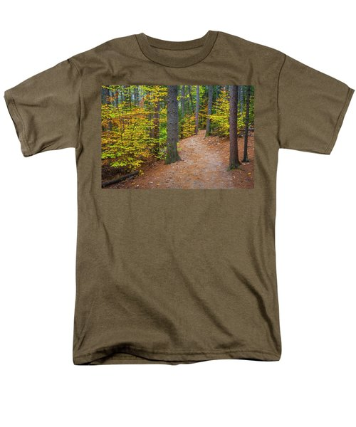Men's T-Shirt  (Regular Fit) featuring the photograph Autumn Fall Foliage In New England by Ranjay Mitra