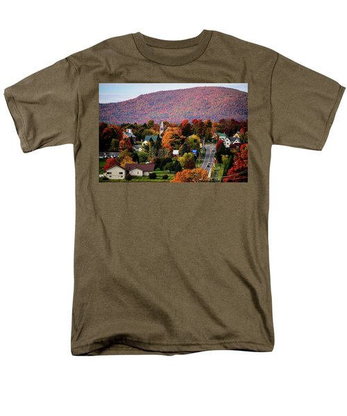 Autumn In Danville Vermont Men's T-Shirt  (Regular Fit) by Sherman Perry