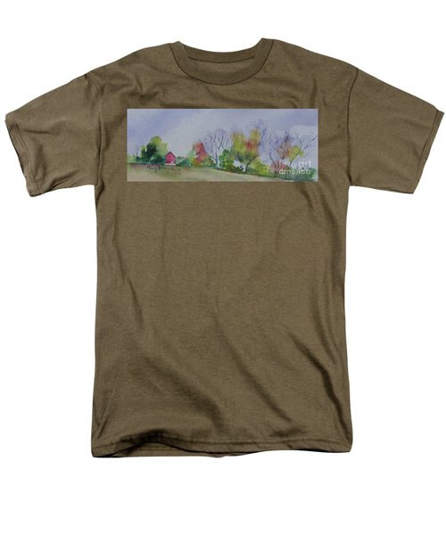 Autumn In Rural Ohio Men's T-Shirt  (Regular Fit) by Mary Haley-Rocks