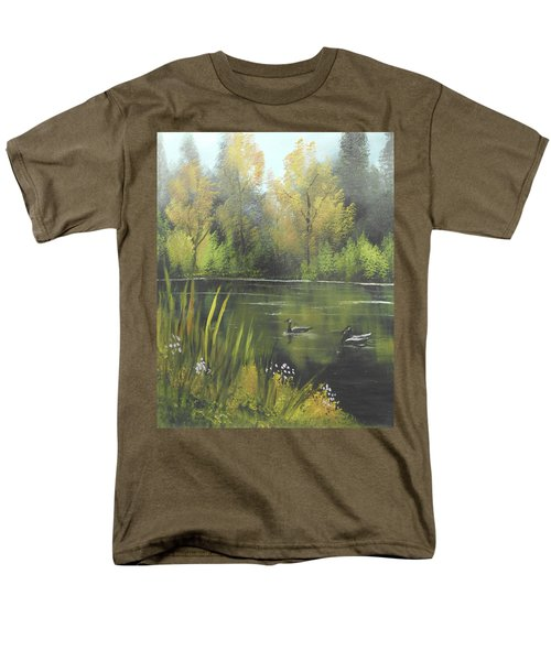 Autumn In The Park Men's T-Shirt  (Regular Fit) by Angela Stout
