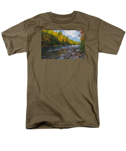 Autumn Morning Light On The Snoqualmie Men's T-Shirt  (Regular Fit) by Ken Stanback