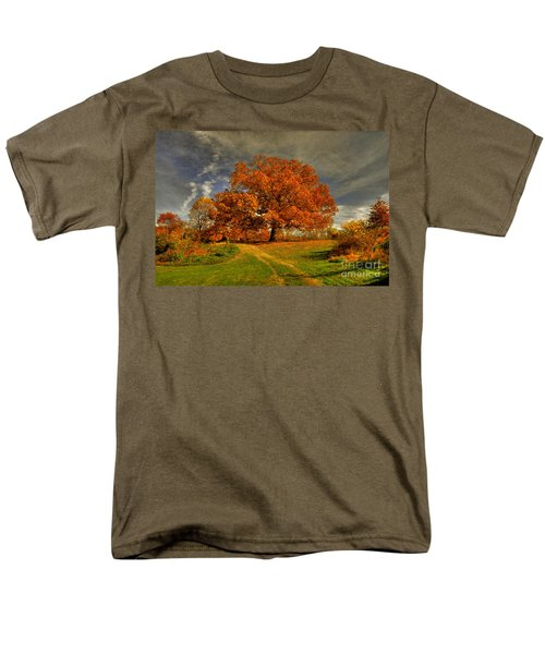 Autumn Picnic On The Hill Men's T-Shirt  (Regular Fit) by Lois Bryan
