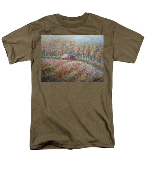 Men's T-Shirt  (Regular Fit) featuring the painting Autumn Whisper. by Natalie Holland