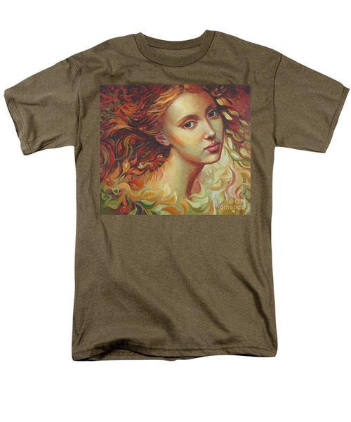 Men's T-Shirt  (Regular Fit) featuring the painting Autumn Wind by Elena Oleniuc