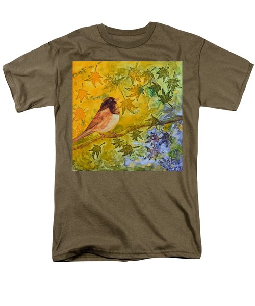 Men's T-Shirt  (Regular Fit) featuring the painting Autumn's Song by Nancy Jolley