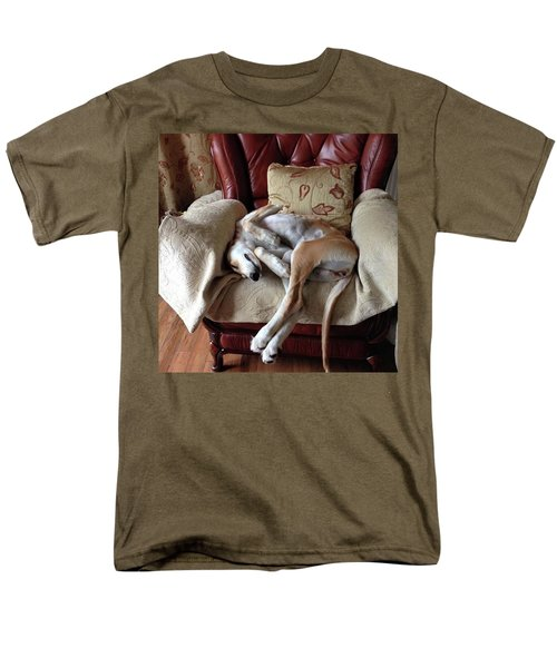 Ava - Asleep On Her Favourite Chair Men's T-Shirt  (Regular Fit) by John Edwards