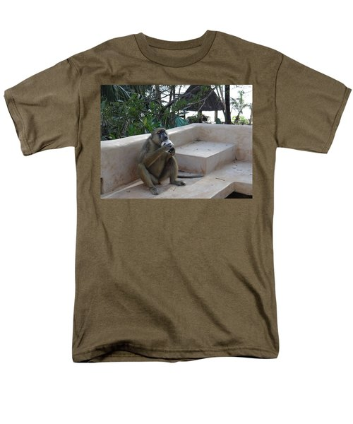 Baboon With A Sweet Tooth Men's T-Shirt  (Regular Fit) by Exploramum Exploramum