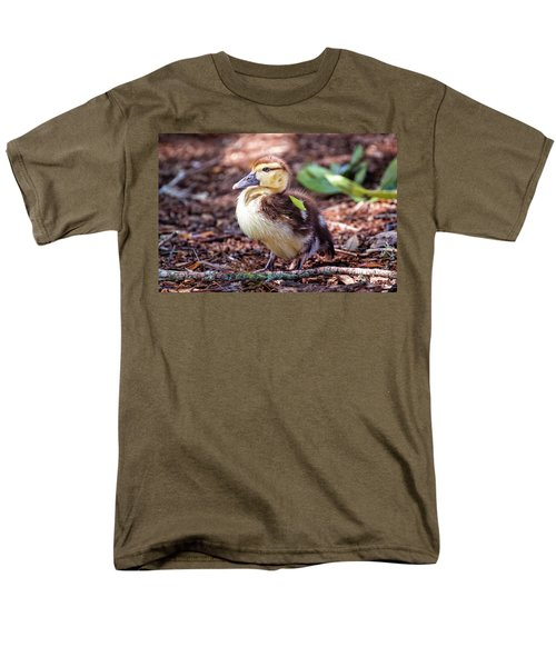 Baby Duck Sitting Men's T-Shirt  (Regular Fit) by Stephanie Hayes
