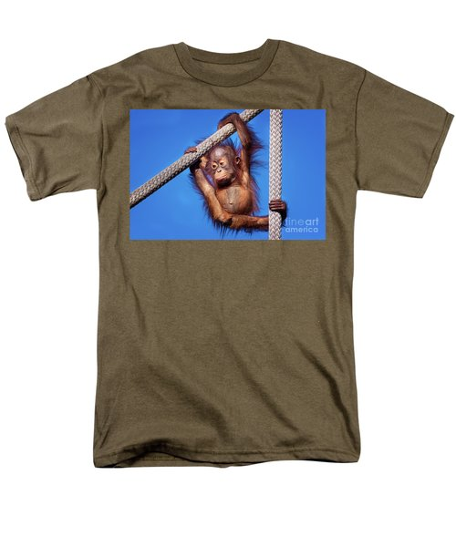 Baby Orangutan Hanging Out Men's T-Shirt  (Regular Fit) by Stephanie Hayes