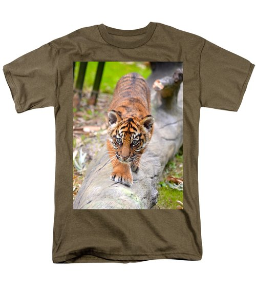 Baby Sumatran Tiger Cub Men's T-Shirt  (Regular Fit) by Richard Bryce and Family