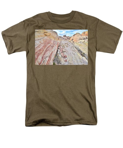 Back Country Valley Of Fire Men's T-Shirt  (Regular Fit) by Ray Mathis